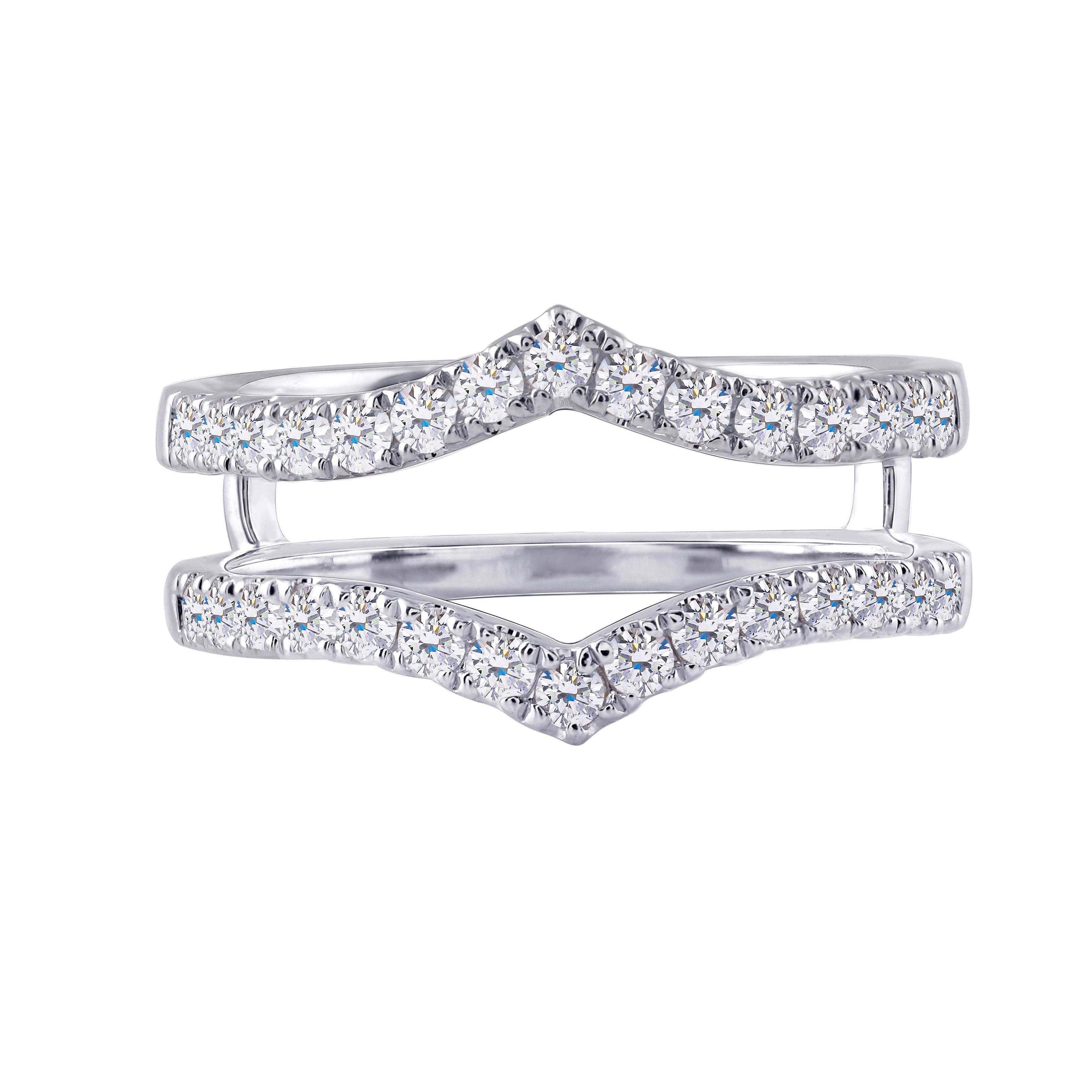 doveggs moissanite eternity band 14k white gold 0.6ctw moissanite half eternity anniversary wedding band for women - DovEggs-Seattle