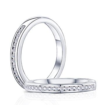 half eternity anniversary moissanite wedding band