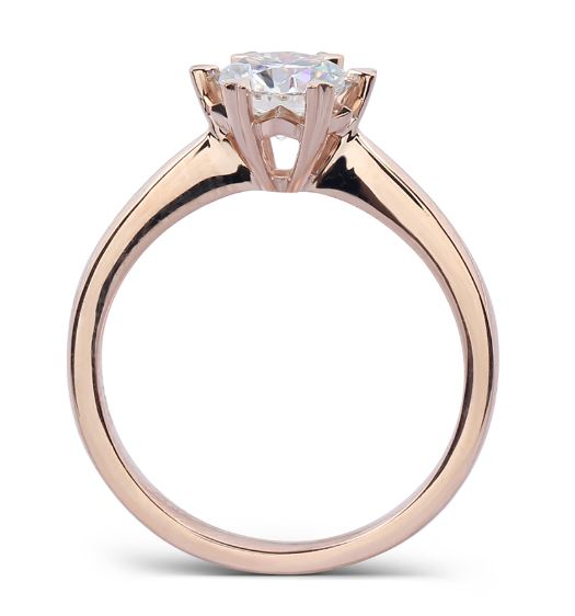 solitaire moissanite ring