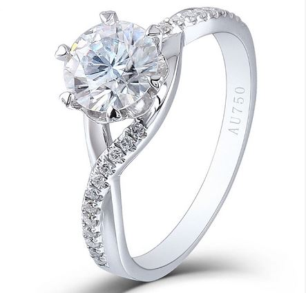 round moissanite ring