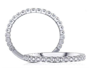 doveggs wedding band 0.48 carat half eternity band guard ring in white gold DovEggs-Seattle