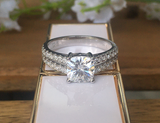 paved moissanite ring