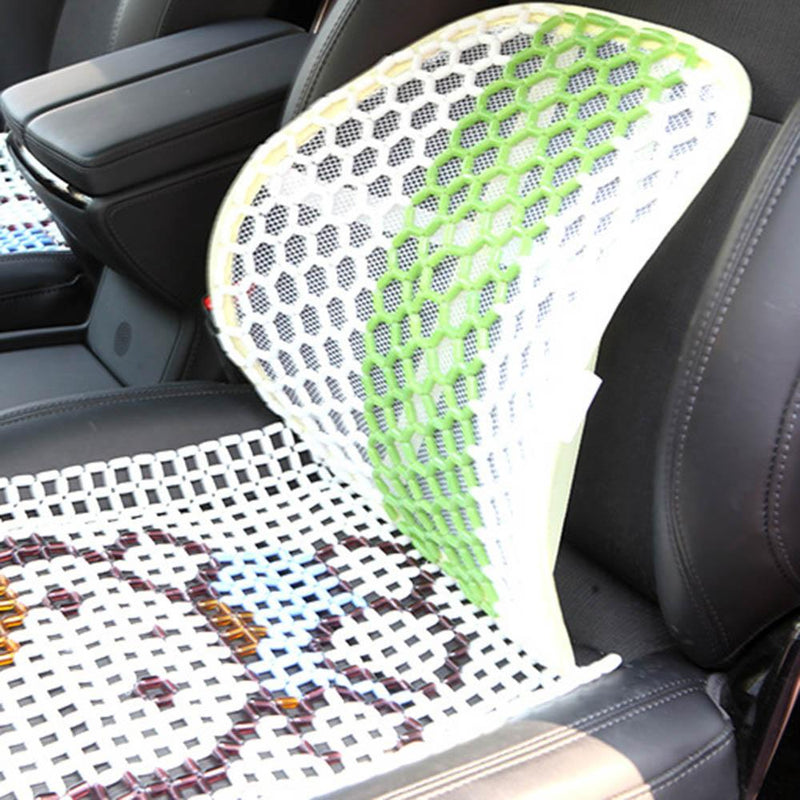 Car Seat Chair Back Massage Lumbar Support Waist Cushion Mesh Ventilate Cushion Pad For Car Office Home Car Styling