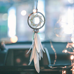 Dream Catcher Car Accessory Interior For Girls Feather Car Mirror Hanging Pendant In Auto Ethnic Home Decor Lucky Car Ornaments