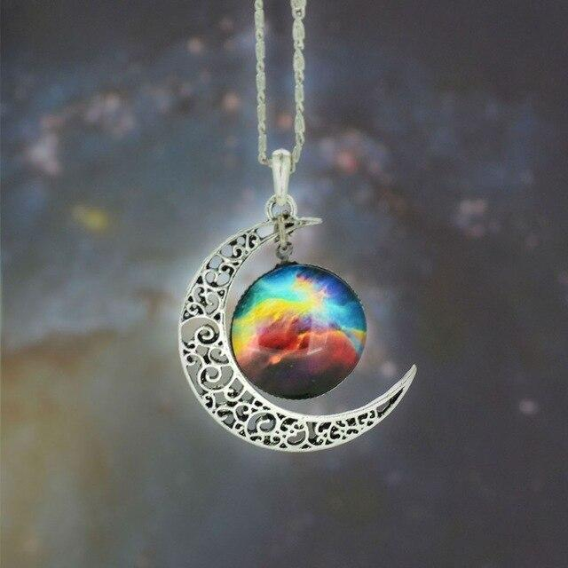 2019 New Car Crystal Ornaments Cosmic Star Moon Time Gemstone Pendant Necklace High-End Sparkling Wedding Decoration