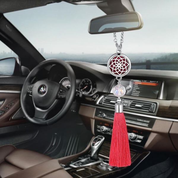 Car Decoration Air Freshener Car Perfume Diffuser Tassel Pendant Hanging Ornaments Rearview Mirror Suspension Decoration G02