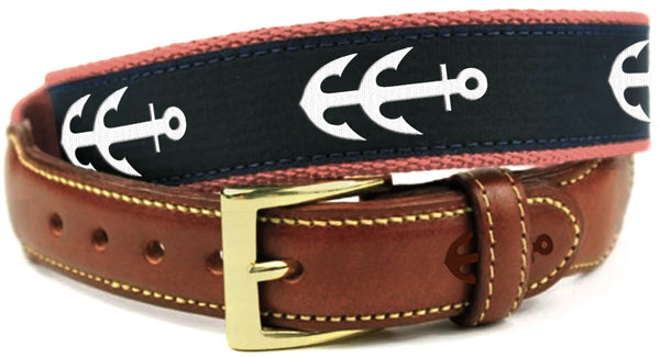 Classic Crabbers Leather Tab Belt  |  USA MADE