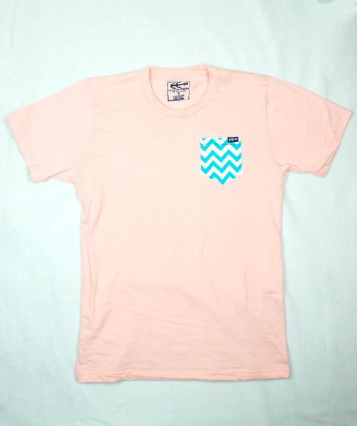Waves Pocket Tee  | USA Made