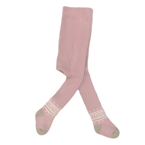 Dusty Pink Thermal Tights - Petit Maison Kids