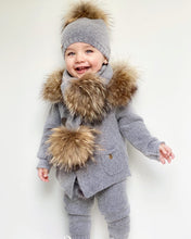 Cashmere Pram Coat with Natural Trim