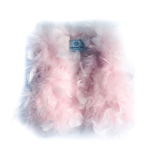 Pink Feather Vest - Petit Maison Kids