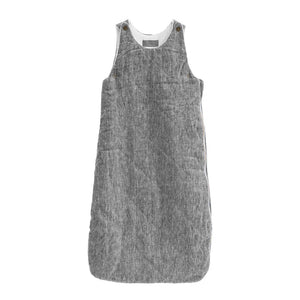 Quilted Linen Charcoal Sleeping Bag - Petit Maison Kids