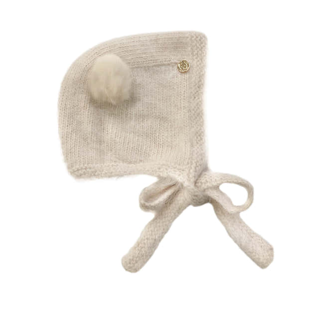 Oatmeal Cashmere Teddy Hat 1