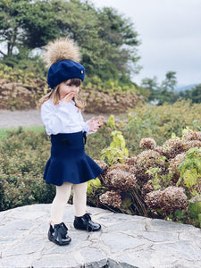 Wool Beret with Pom Pom