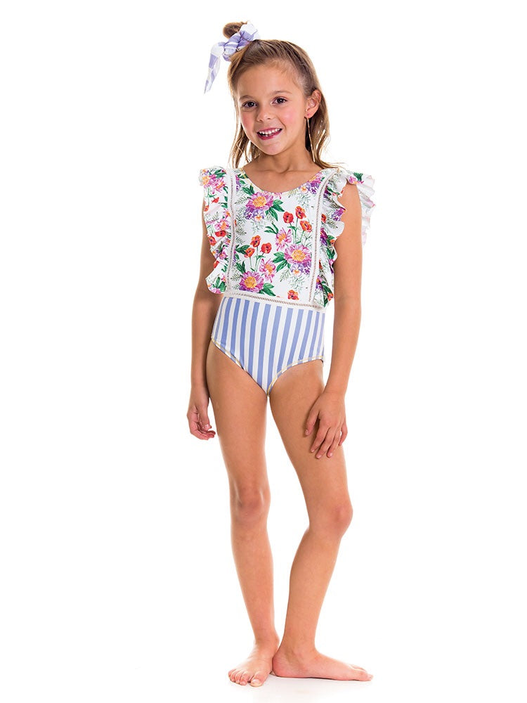 Romantic Flowers Swimsuit - Petit Maison Kids