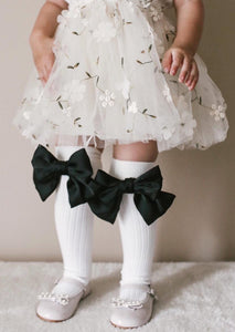 Abigail Satin Bow Socks