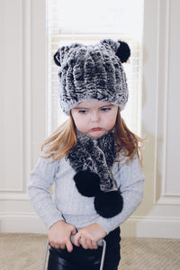 Fuzzy Hat and Scarf Set - Petit Maison Kids