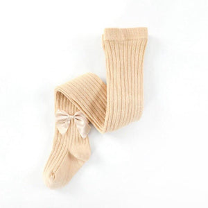 Ribbed Tights with Bows - Petit Maison Kids