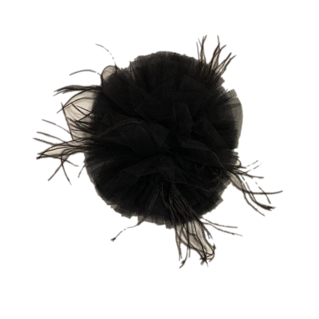 Black Tulle Brooch