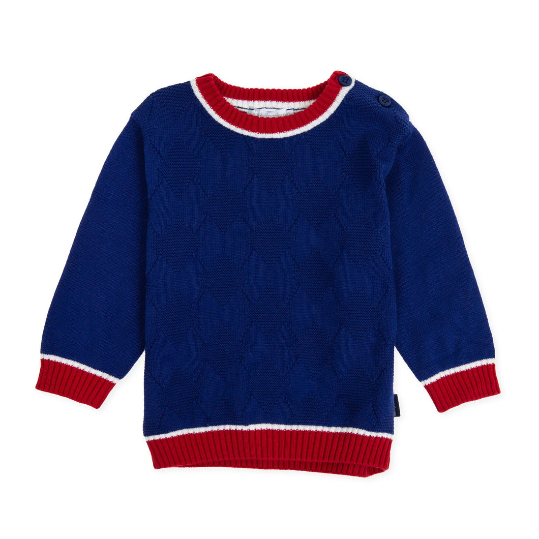 Blue and Red Sweater - Petit Maison Kids