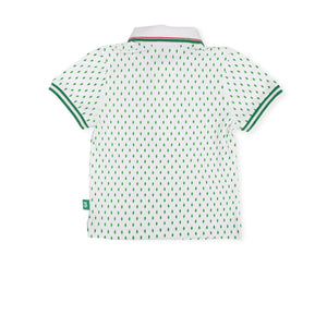 Green Leaf Polo Top - Petit Maison Kids