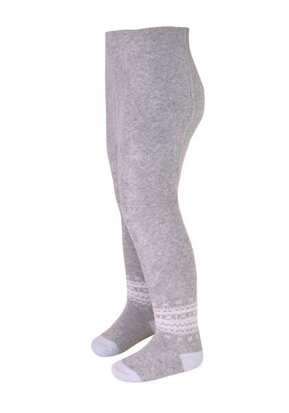 Maximo Grey Snowflake Thermal Tights - Petit Maison Kids