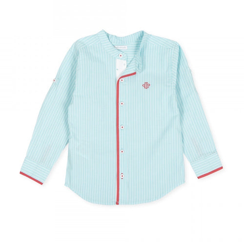 Striped Teal Shirt - Petit Maison Kids