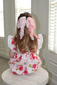 Lucy Silk Hair Bow Clip - Petit Maison Kids