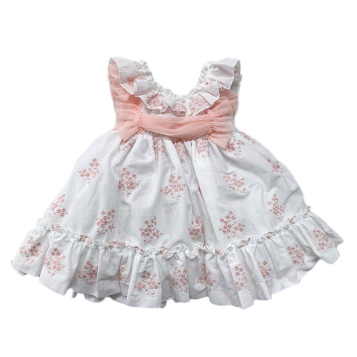 Apricot Flower Dress - Petit Maison Kids