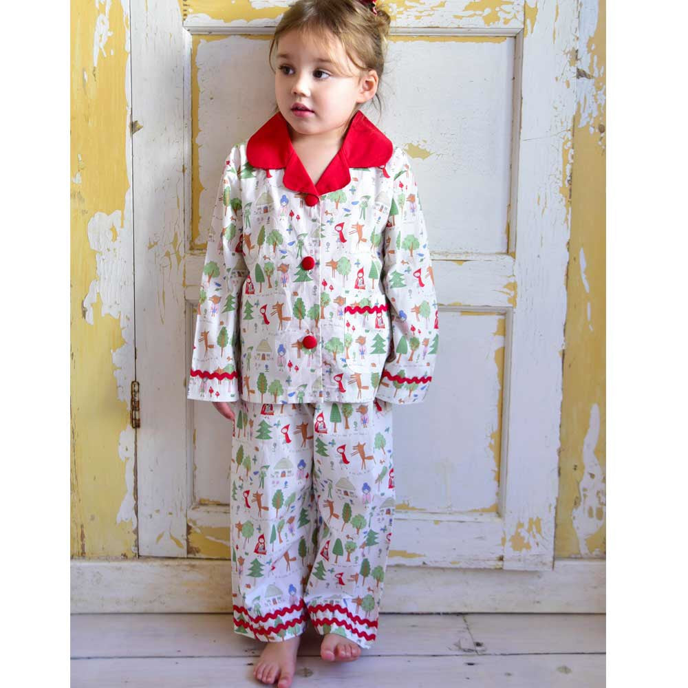 Red Riding Hood Long Sleeve Pajamas - Petit Maison Kids