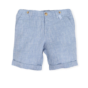 Blue Linen Shorts - Petit Maison Kids
