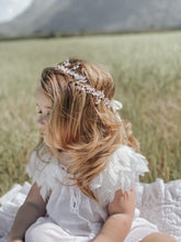 Silver Flower Hair Garland
