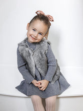 Grey Rabbit Vest - Petit Maison Kids