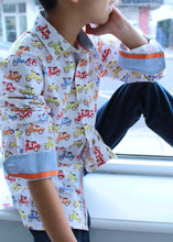 Vespa Dress Shirt - Petit Maison Kids