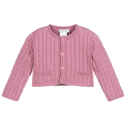 Mauve Knitted Cotton Cardigan