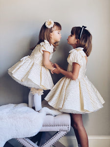 White Knee High Socks with Velvet Bows - Petit Maison Kids