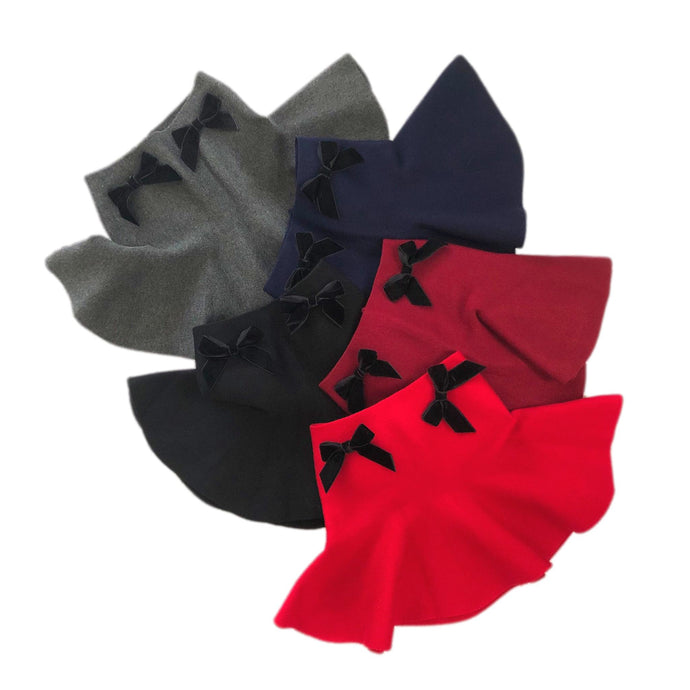 Wool Skirt with Velvet Bows - Petit Maison Kids