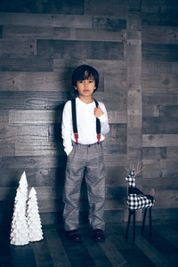 Grey Checkered Pants - Petit Maison Kids