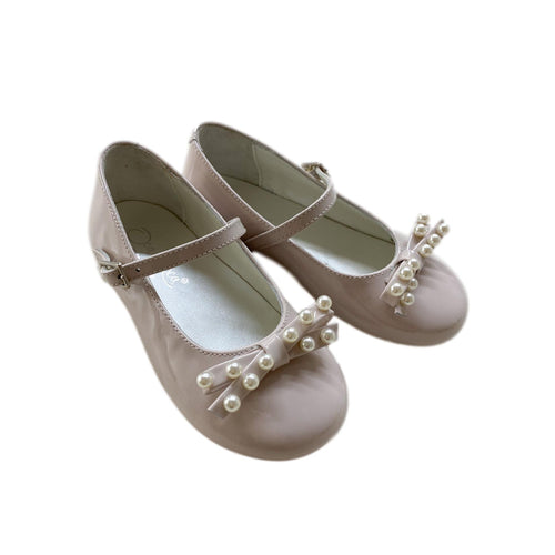 Leather and Pearl Mary Janes - Petit Maison Kids