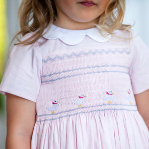 Augustine Powder Pink Dress - Petit Maison Kids