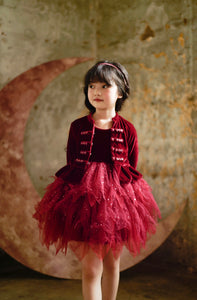 Jimmy Jacket in Scarlet - Petit Maison Kids