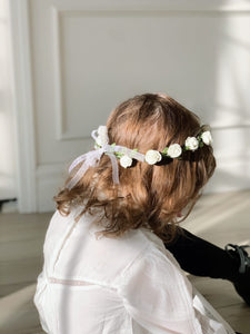 White Flower Hair Wreath