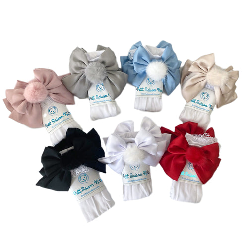 Lana Ruffle Socks with Poms and Bows