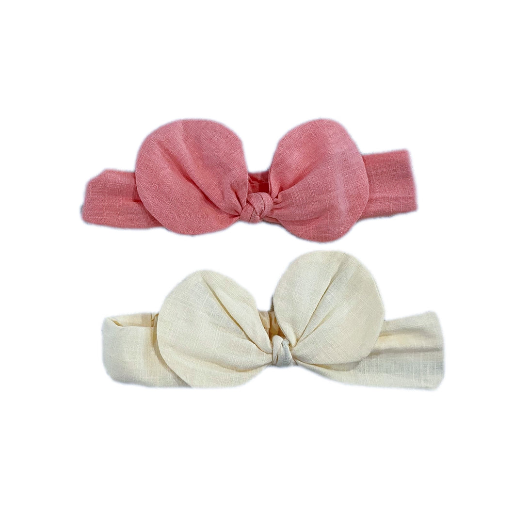 Minnie Linen Headband - Petit Maison Kids