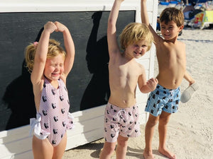 Panda Boy Swim Trunks - Petit Maison Kids