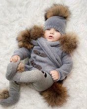 Cashmere Pram Coat with Natural Trim - Petit Maison Kids
