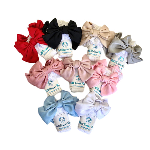 Lola Lace Socks with Satin Bows