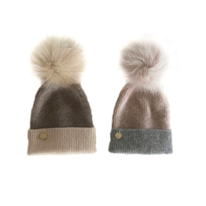 Two Toned Angora Hat