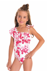 Red Flower Swimsuit - Petit Maison Kids