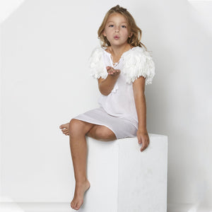 White Petal Beach Dress - Petit Maison Kids